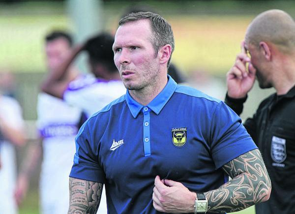 Oxford United head coach Michael Appleton