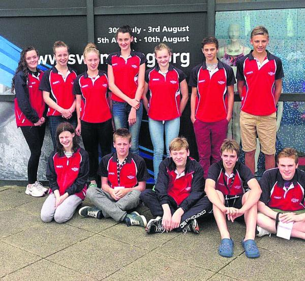City of Oxford's team who competed in Sheffield. Back row (from left): Emily Nisbet, Ellie Millington, Olivia Webster, Annie Sharp, Maia Little, Callum Smart, Zach Bischoff. Front: Natasha Fenton, Ewan Springett, Connor Bryan, Daniel Jenkins and