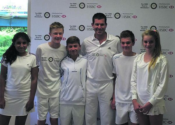 Pictured (from left): Saffy Gujral, Edward Green, Tom Craig, Tim Henman, Ollie Broadhurst, Evie Phillips