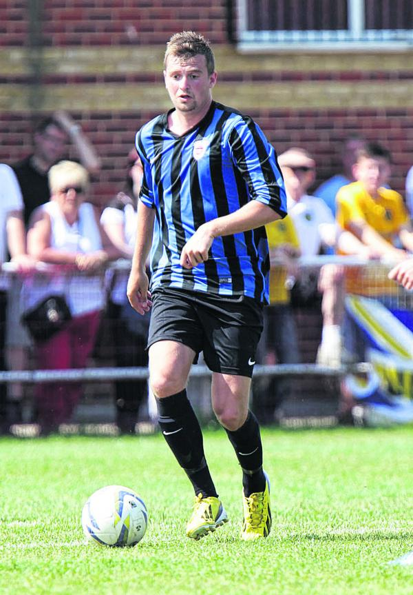 John Mills scored four of Didcot's goals in their 5-0 win at Bishops Cleeve