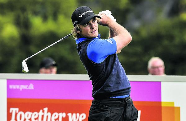 Eddie Pepperell tees off in the final round on Sunday