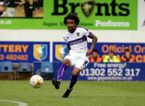 United's Junior Brown is relishing a lively atmosphere  at the