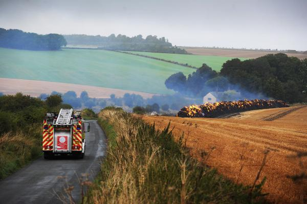 Police investigate suspected arson after yesterday's hay blaze