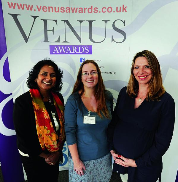 Pictured from left are Dr Chintha Dissanayake of Oxford Psychometrics, Christine McRitchie of Earthwise Trading Ltd and Tina Marshall, managing director of Enchanted Marketing