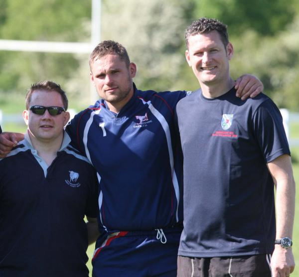 Tom Whelan (left) is teaming up with captain James Eckert (centre) and head coach Craig Burrows at Grove