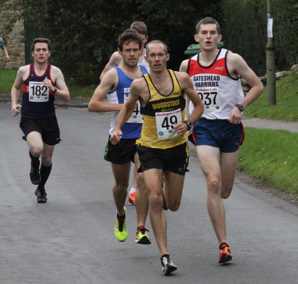 James Bolton (49) sets the pace at the Headington 5          Picture: Barry Cornelius
