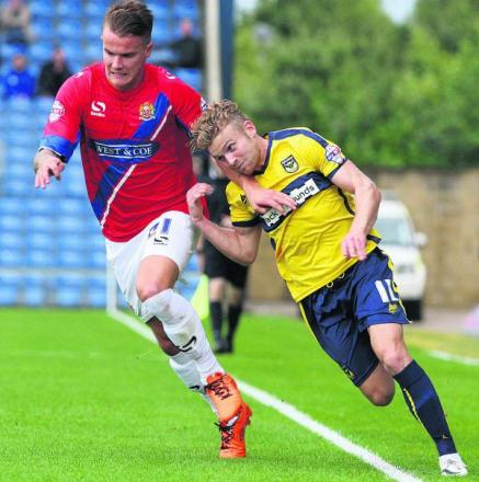 Alfie Potter on the run against Dagenham last weekend	  Picture: Steve Wheeler Order no: OX69549