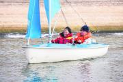 Sailability volunteer Rose Todd and Ian Cox set sail on Farmoor Reservoir.  Picture: OX70732 Damian Halliwell