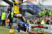 Michael Collins in action during Saturday's goalless draw at Portsmouth Picture: Damian Halliwell