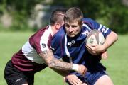 Scrum half Joe Chilvers during Oxfordshire's defeat to Leicestershire on Saturday Picture: Steve Wheeler