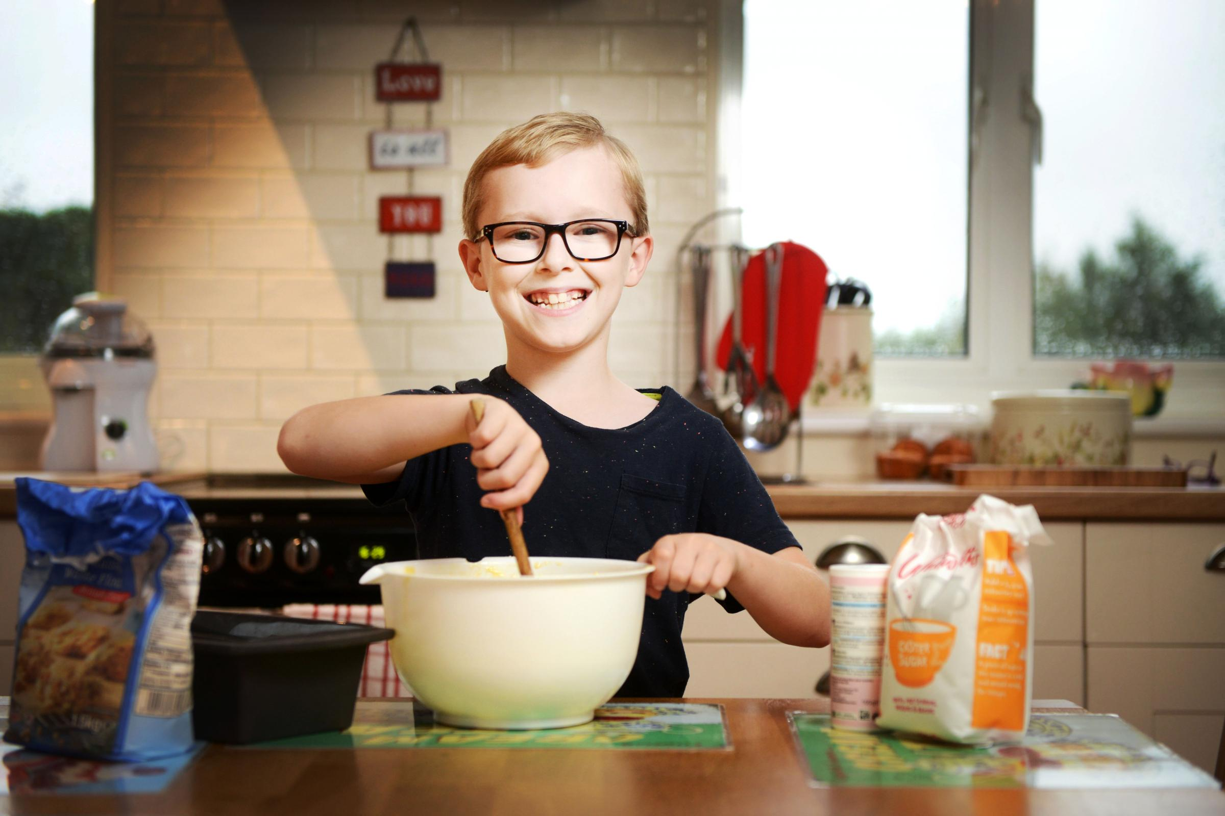 Fundraiser: Bradley Pullen gets baking in preparation for his Macmillan coffee morning