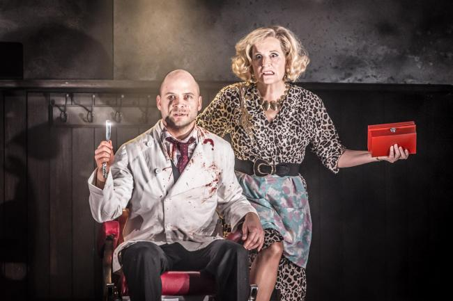 Sweeney Todd, with David Arnsperger as the barber and Janis Kelly as Mrs Lovett in this Welsh National Opera production of Stephen Sondheim's hit musical