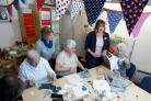 Janet Lester, volunteer Margaret Hutchings, Agnes Larkins, activity co-ordinator Anne Jones and Phyllis Laidler enjoying a patchwork session at the Hummingbird Centre in Launton