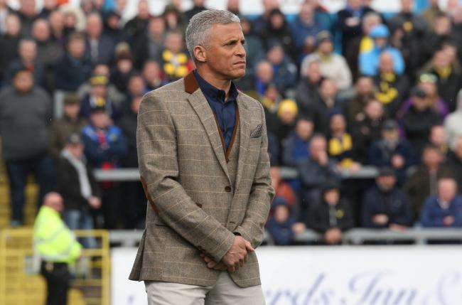 Carlisle United manager Keith Curle watches on during Oxford United's victory at Brunton Park yesterday Picture: Richard Parkes