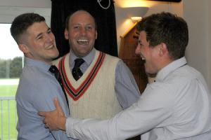 DELIGHT: Ed Yeats, Sam Stoop and Guy Fairburn celebrate the news  Picture: Peter Matthews