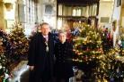St Edburg's Tree Festival in Bicester. Bicester Mayor Les Sibley with church rector Verena Breed.