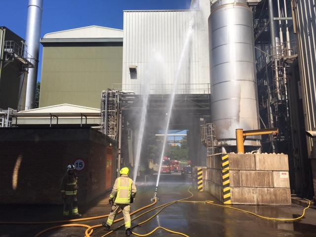 Firefighters Tackle Large Blaze At Banbury Coffee Factory