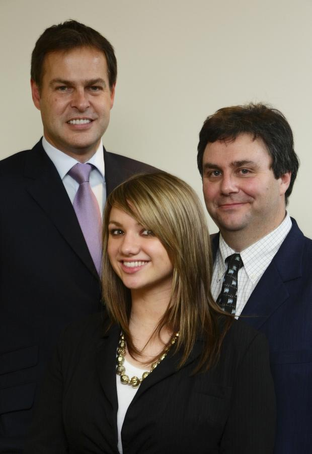 Fiona Neil with Dragon's Den Entrepreneur Peter Jones and Alex Pratt, SEEDA board member