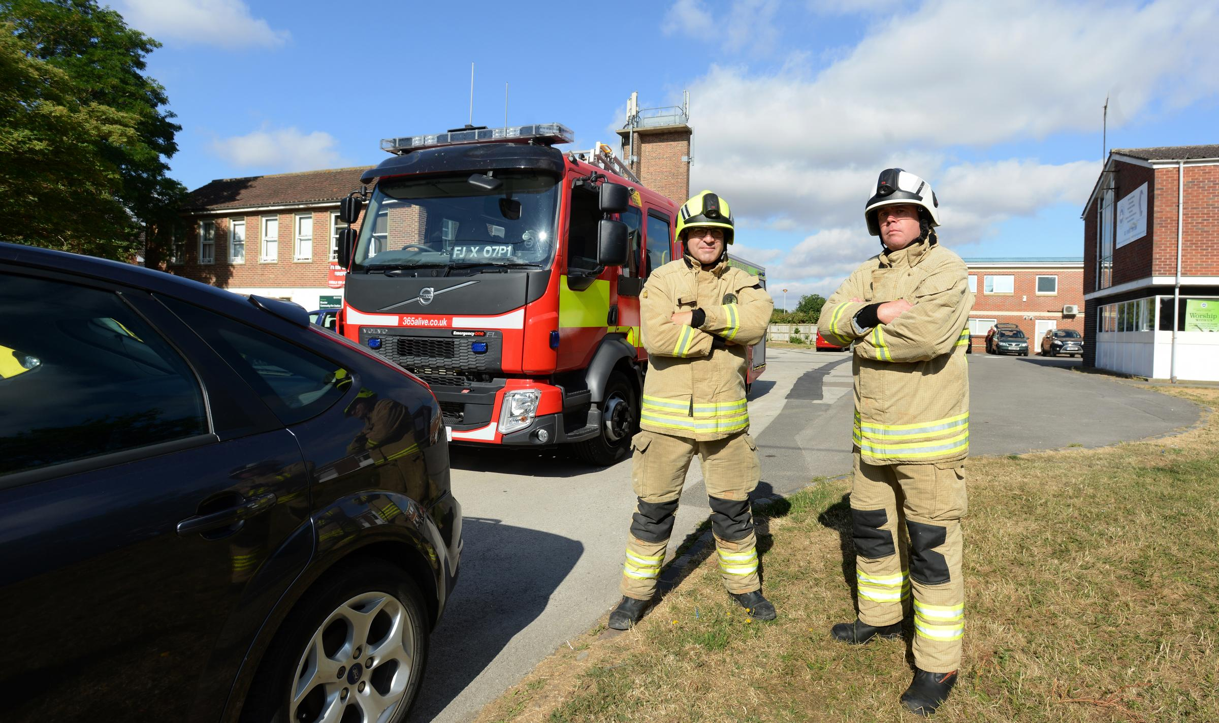 John Campbell and Pete Mackey of Bicester Fire Station. Picture: Richard Cave