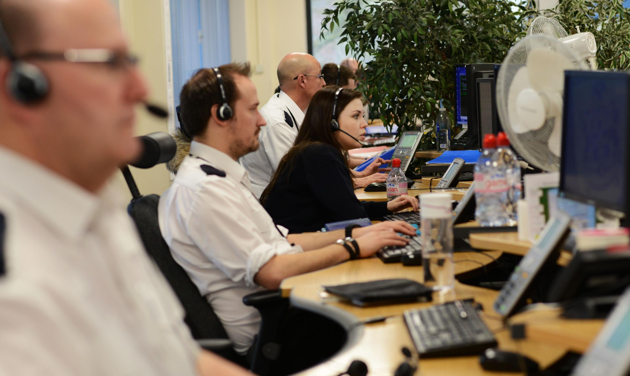 The unsung heroes of TVP- Police Enquiry Centre Officers... Picture  Richard Cave.10.03.2017.