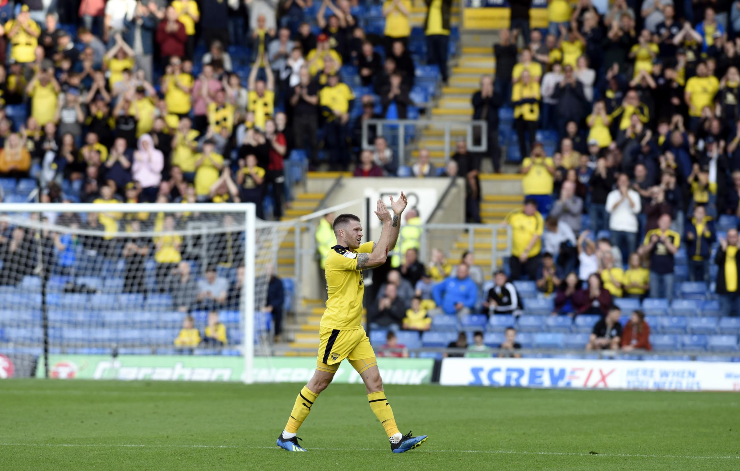OVATION: Jamie Mackie acknowledges the acclaim from the terraces after his man-of-the-match display on Saturday       Picture: David Fleming