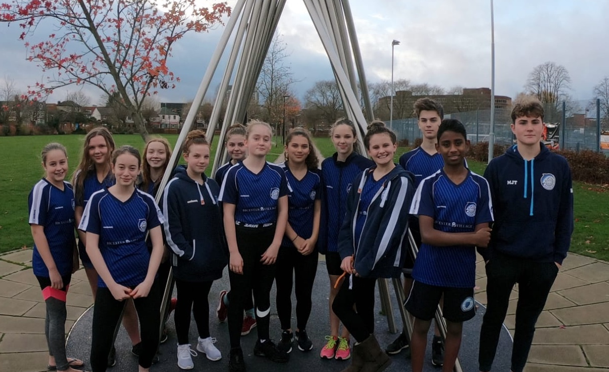 Bicester Blue Fins swimmers at the Winter Meet in Aylesbury