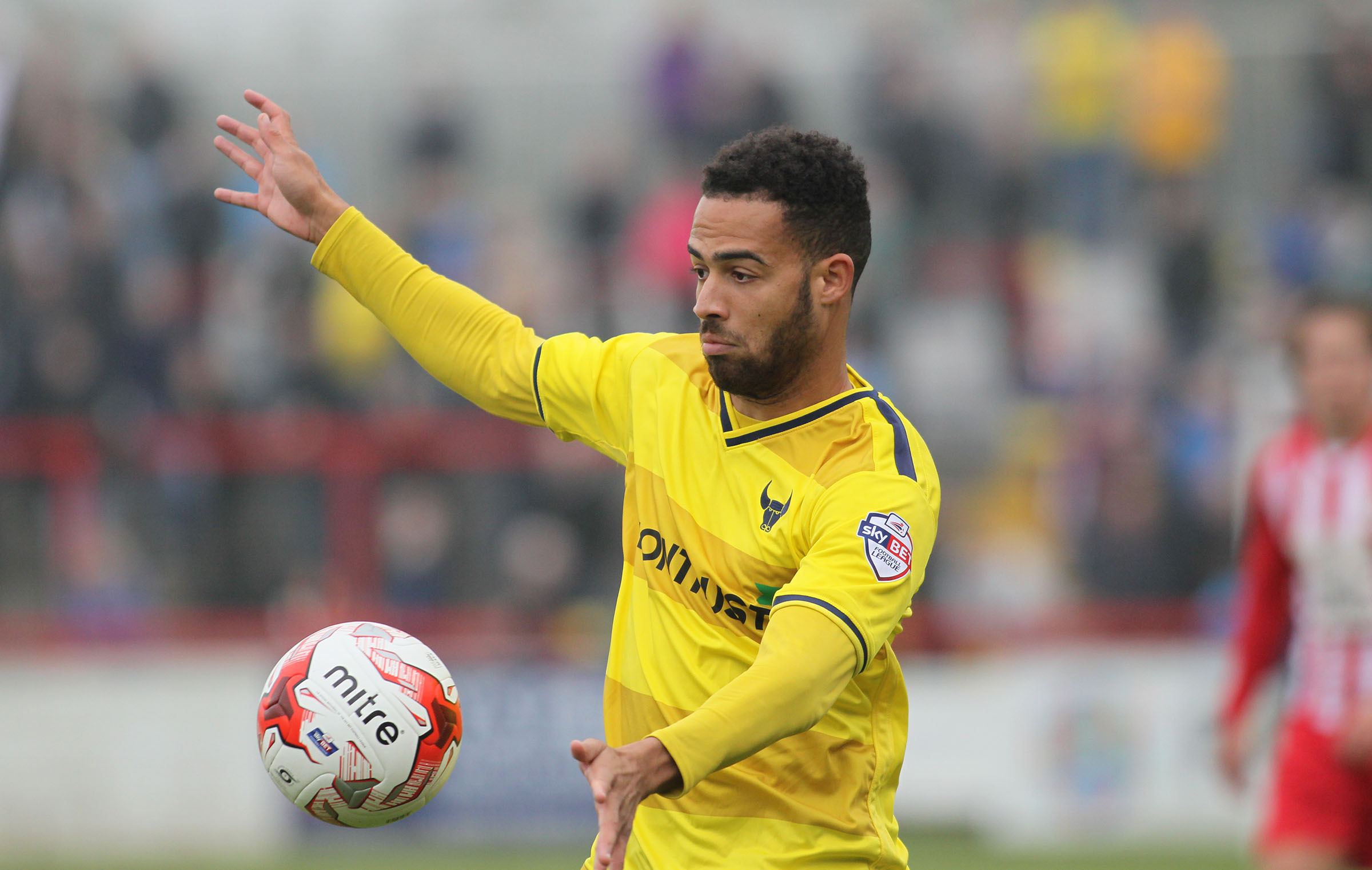 Jordan Graham during his time on loan with Oxford United in 2015. The winger has spent the last month training at the club
