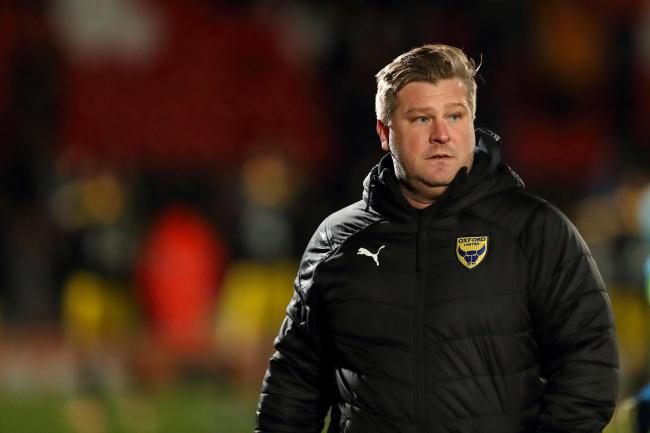 Oxford United head coach Karl Robinson  Picture: James Williamson