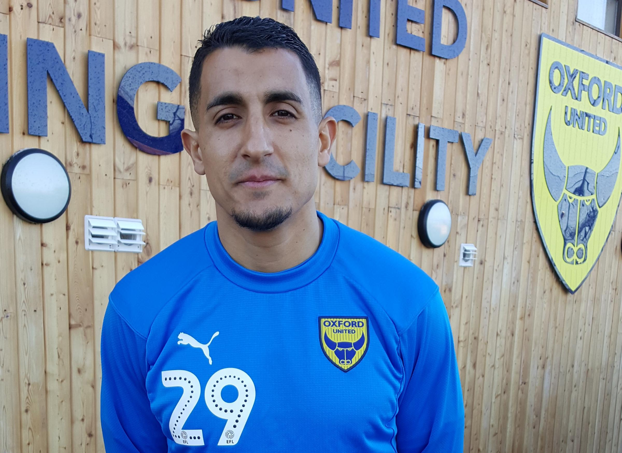 Ahmed Kashi at Oxford United's training ground this morning