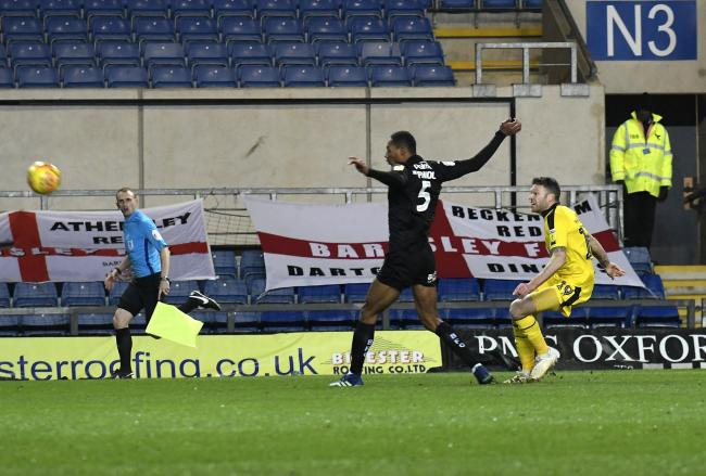 Jamie Mackie hit the crossbar with a chip in the first half against Barnsley  Picture: David Fleming