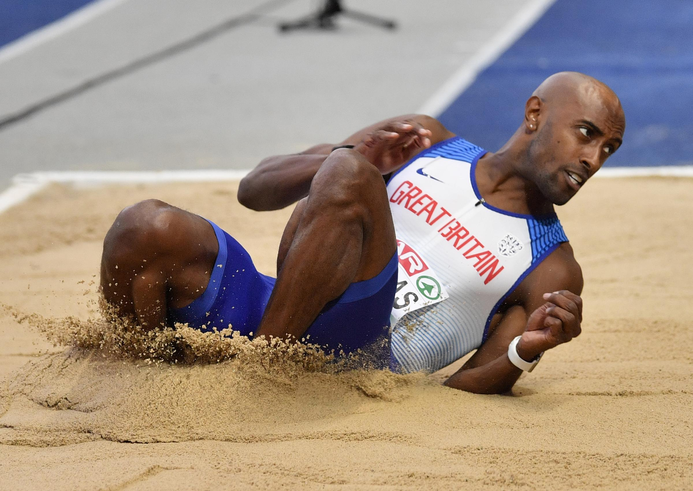 Oxford City AC triple jumper Nathan Douglas is hoping to land an eighth national title at the British Indoor Championships this weekend Picture: AP Photo/Martin Meissner
