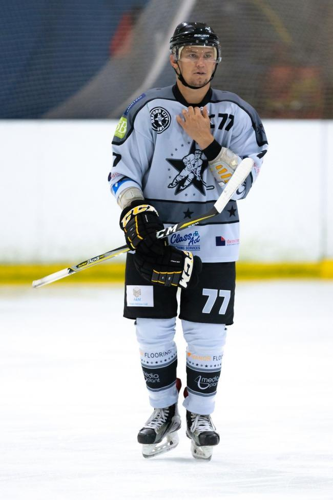 Darren Elliott hit a hat-trick in Oxford City Stars' win at Peterborough Phantoms Picture: Paul Foster