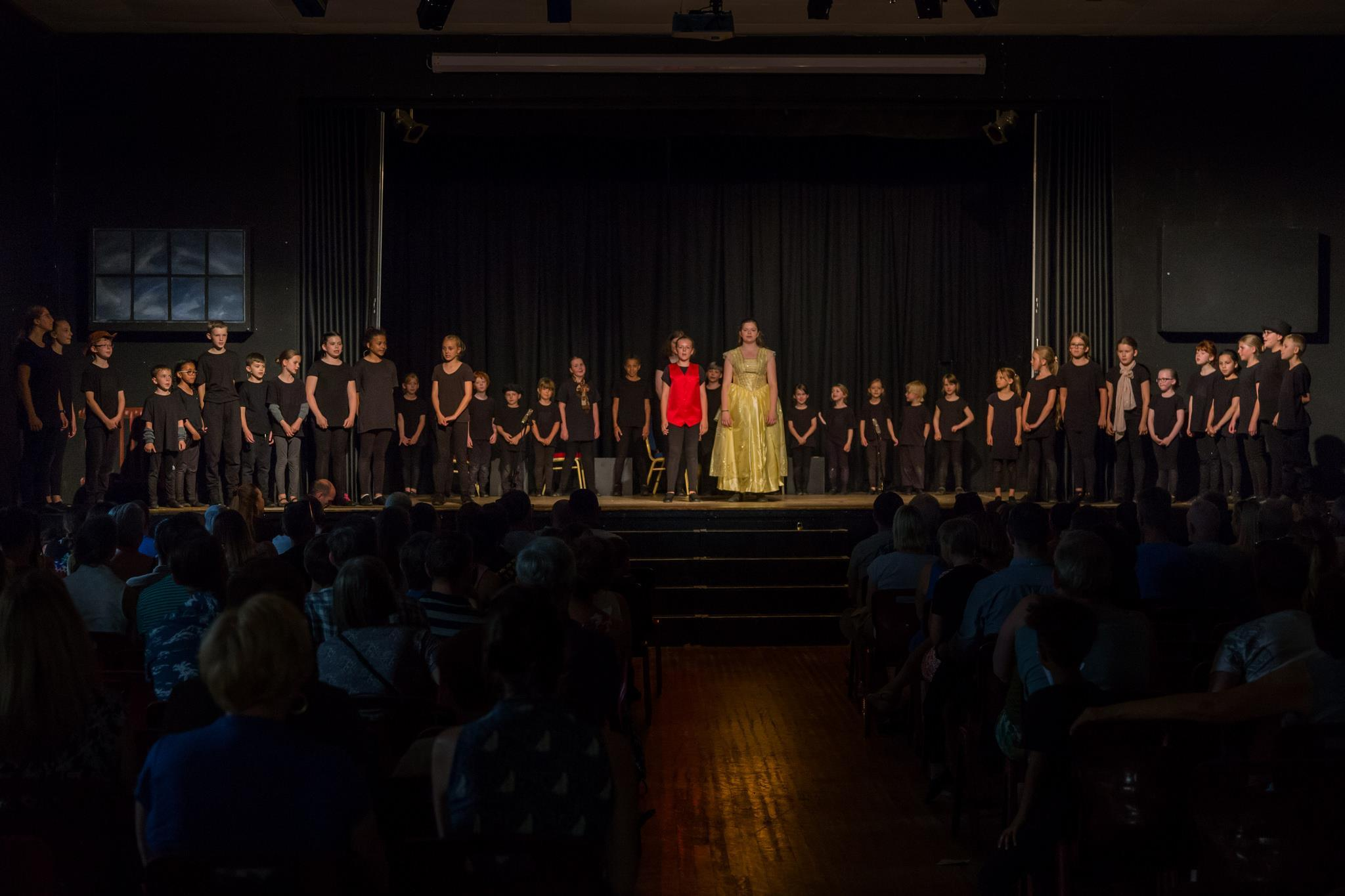 Stagecoach Performing Arts Bicester group performing Beauty and the Beast as a world record attempt June 2018