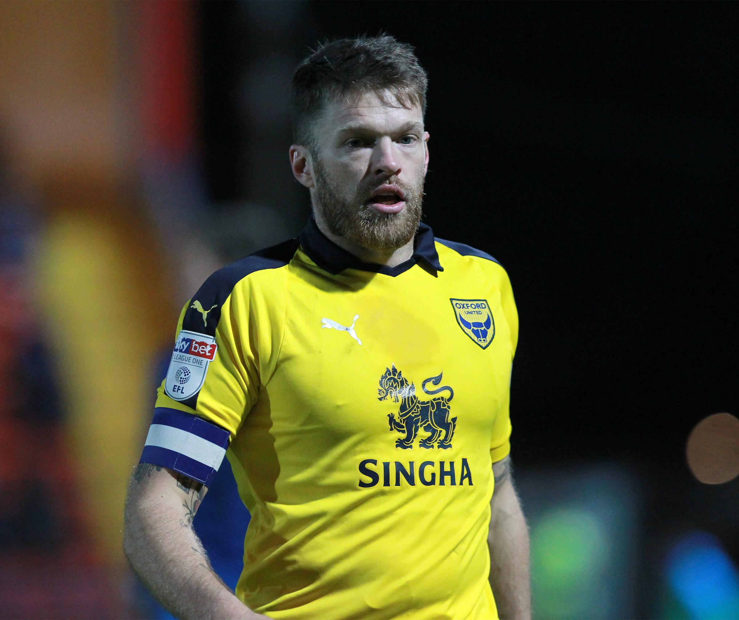 Jamie Mackie captained Oxford United at Rochdale on Tuesday night  Picture: Richard Parkes