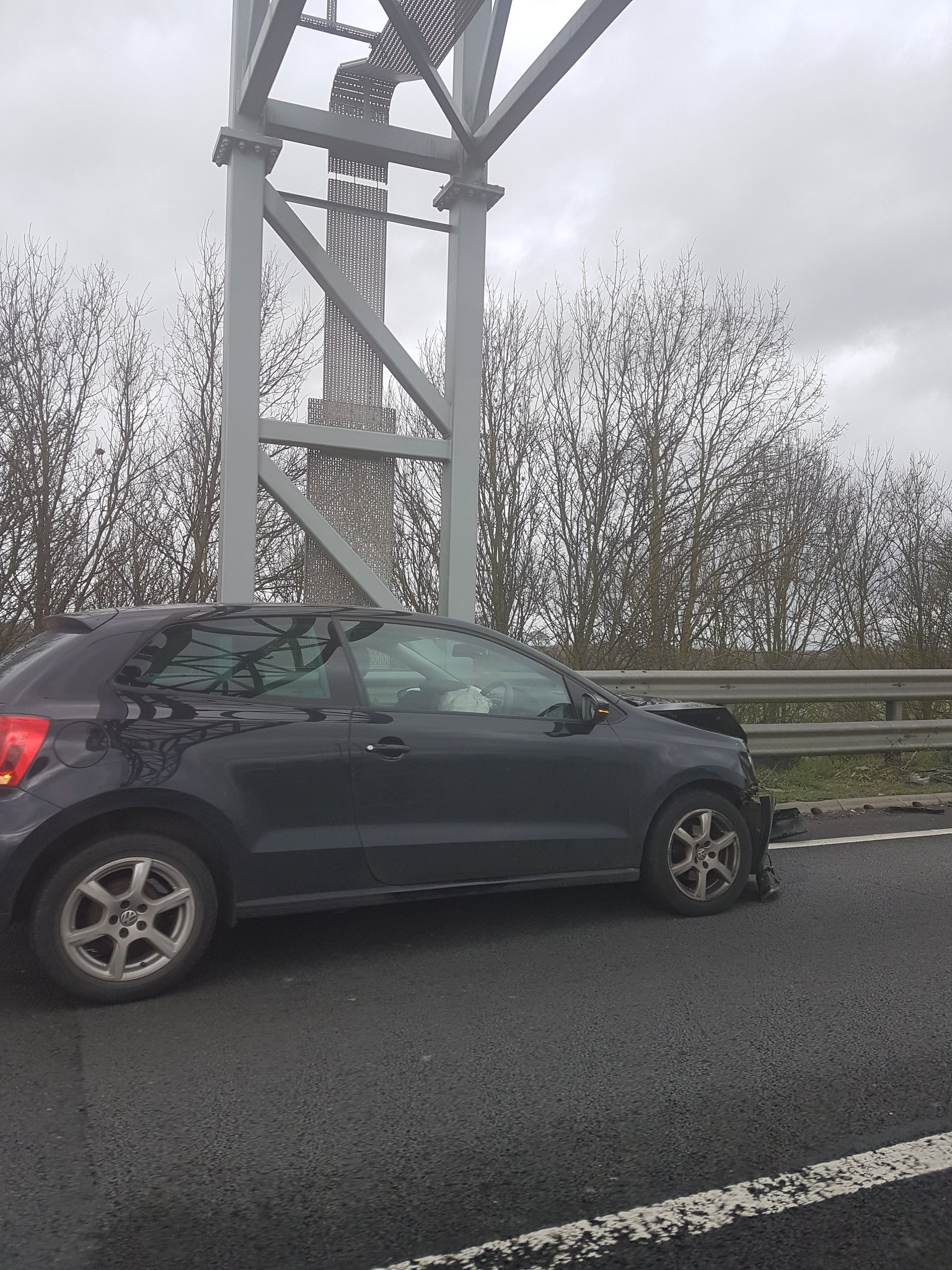 Delays on A34 after crash