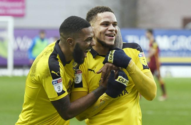 Jerome Sinclair (left) and fellow loanee Marcus Browne are on Karl Robinson's 
