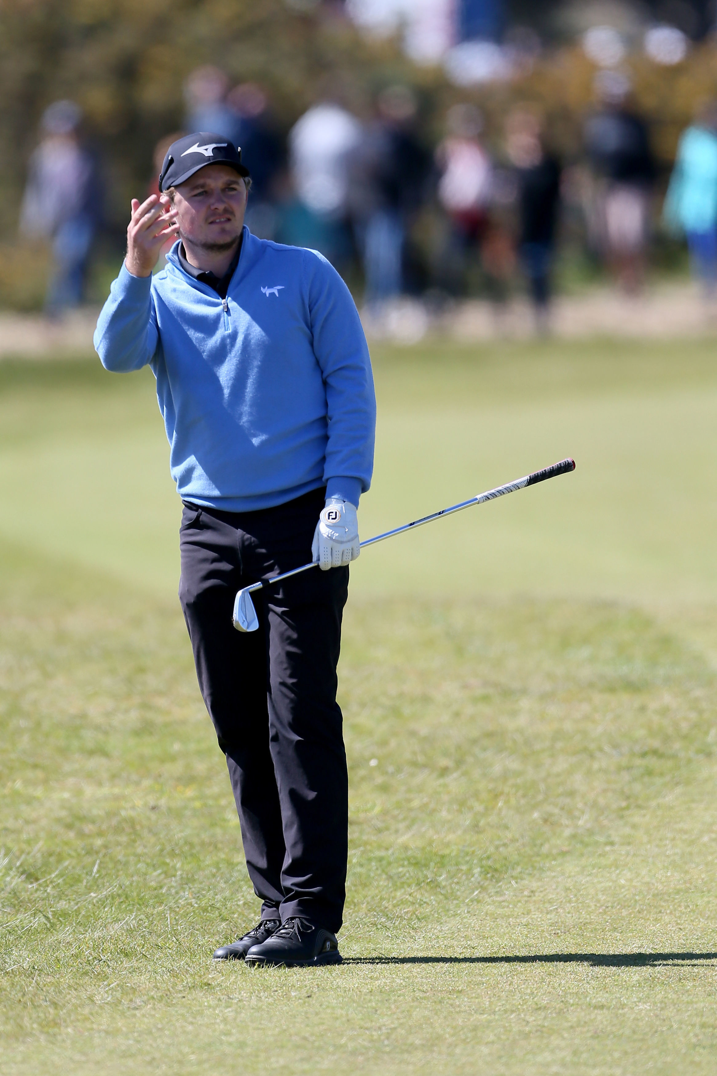 Eddie Pepperell in action today Picture: PA