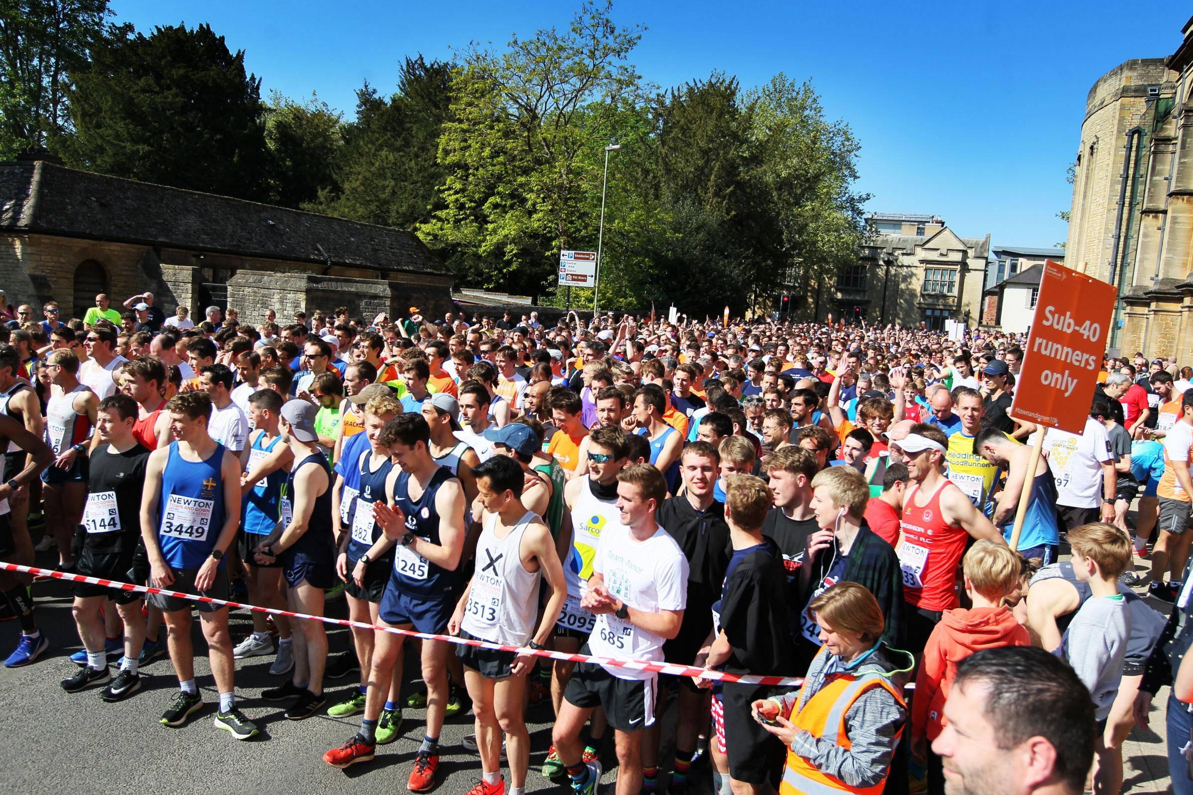 Runners wait at the start line ahead of the Oxford Town and Gown Picture: Ed Nix