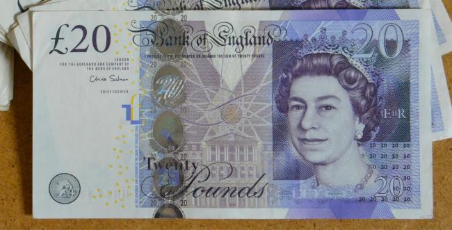 Stock photo of a £20 note