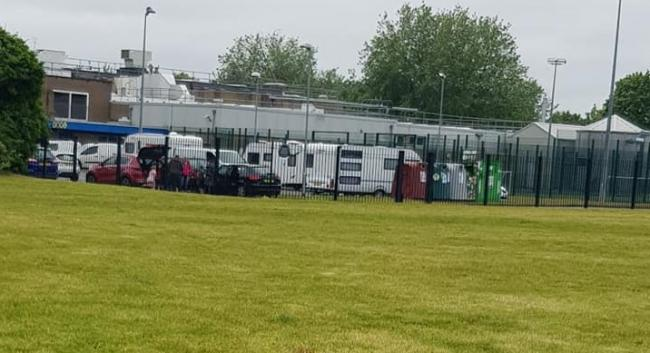 Travellers move in to sports centre car park