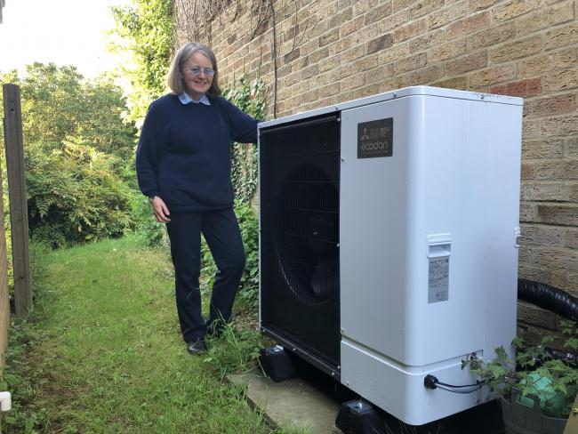 Proud owner of an Air Source Heat Pump    Pic by Stan Skarzynski