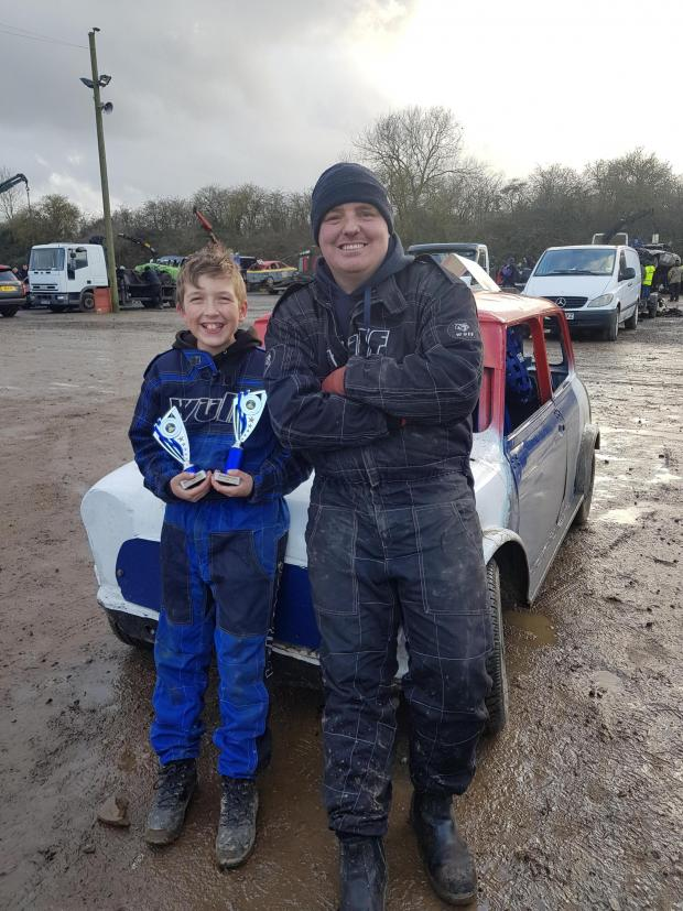 Bicester Advertiser: Riley Bricknell with Dad Jonathan